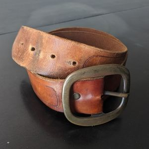 Other - Vintage 1970's Leather Belt Size 32